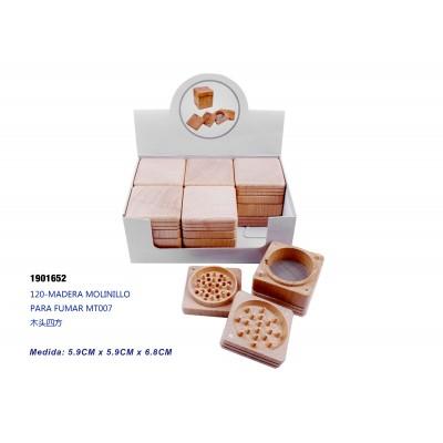 120-MADERA MOLINILLO PARA FUMAR MT007
