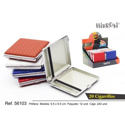 240-12p Estuche metálico cruces para tabaco 20 cigarrillos