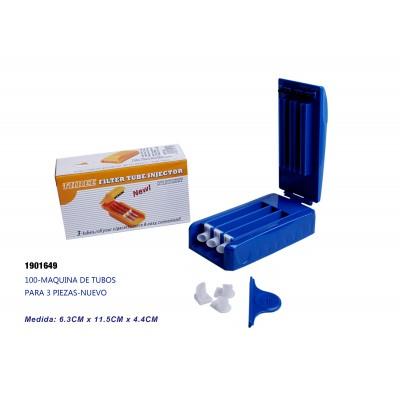 100-5p-Maquina de tubos para 3 cigarrillos