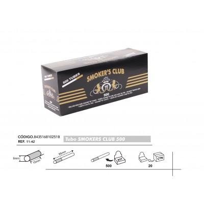 TUBOS SMOKERS 500, CAJA DE 500 TUBOS