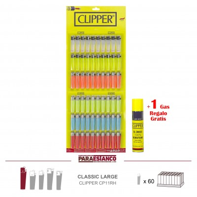 CLIPPER CP11RH, TRANSLÚCIDO 60 UNS + GAS 1 UND REGALO