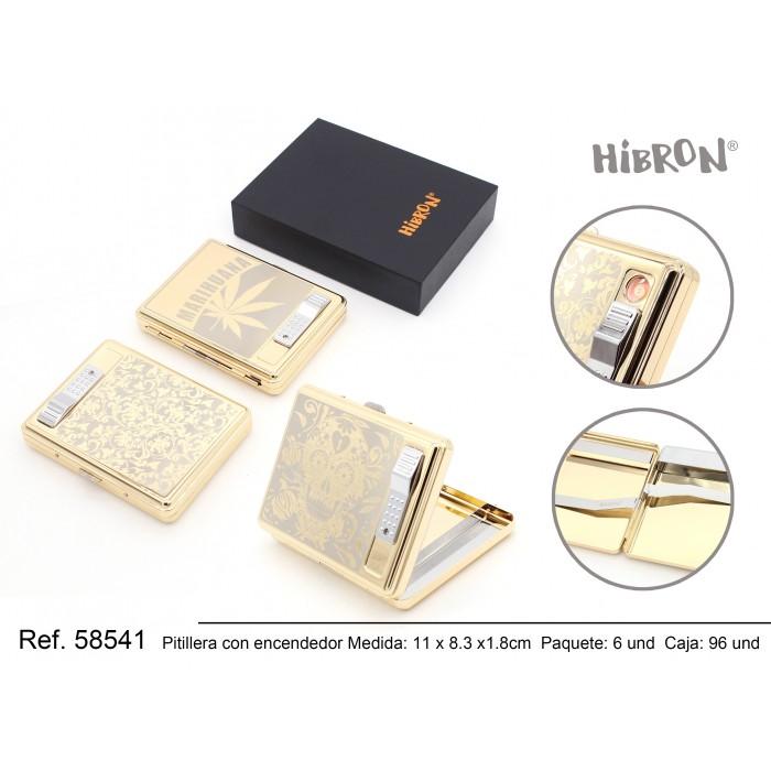 HIBRON, Mechero USB con estuche,58541, 1x1