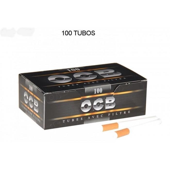 TUBOS OCB NEGRO 100, CAJA DE 100 TUBOS, 1x5
