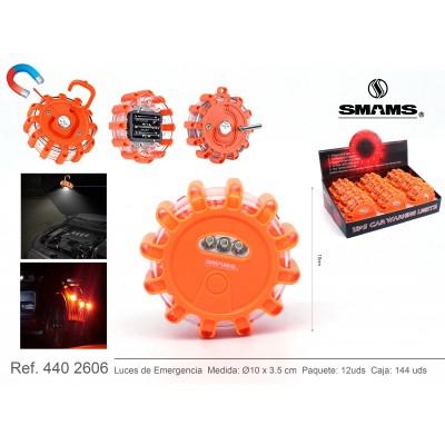 SMAMS Coche, luz Emergencia Coche con Base Magnética y Gancho