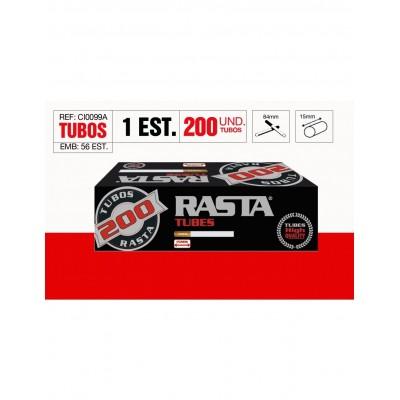 TUBOS RASTA 200, CAJA DE 200 TUBOS, 1x5