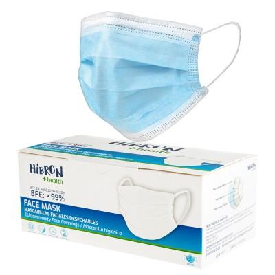 HIBRON 50 Mascarillas Higiénicas No Reutilizables