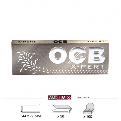 OCB X-PERT GRIS 1¼, LIBRITO DE 50 HOJAS