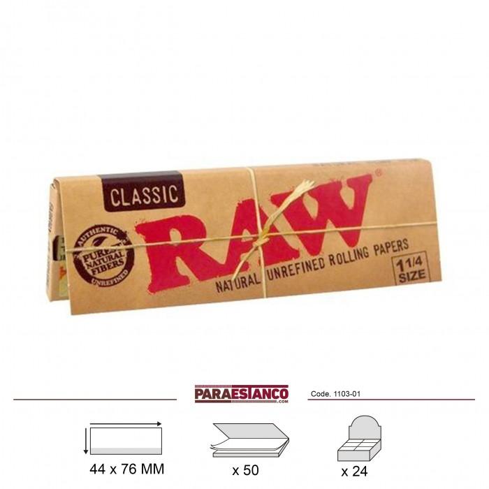 RAW CLASSIC 1¼, LIBRITO DE 50 HOJAS