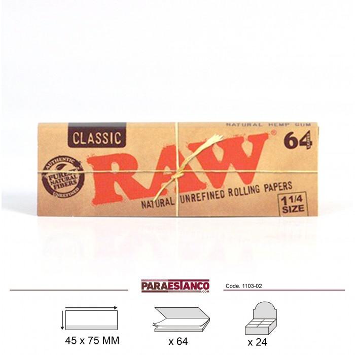 RAW CLASSIC 1¼, LIBRITO DE 64 HOJAS