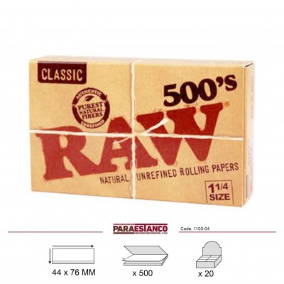 RAW CLASSIC 1¼ 500, LIBRITO DE 500 HOJAS