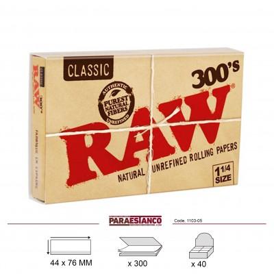 RAW CLASSIC 1¼ BLOC 300, BLOC DE 300 HOJAS
