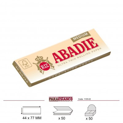 ABADIE 1¼ MEDIUM, LIBRITO DE 50 HOJAS