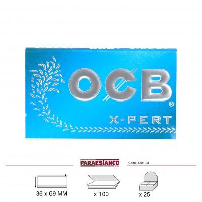 OCB X-PERT AZUL DOBLE No4, LIBRITO DE 100 HOJAS