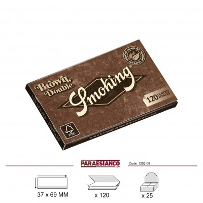 SMOKING BROWN DOBLE, LIBRITO DE 120 HOJAS