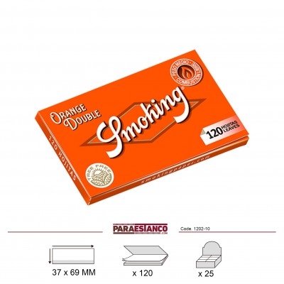 SMOKING ORANGE DOBLE, LIBRITO DE 120 HOJAS
