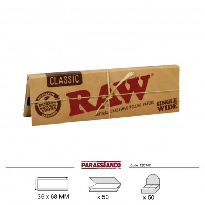 RAW CLASSIC REGULAR, LIBRITO DE 50 HOJAS