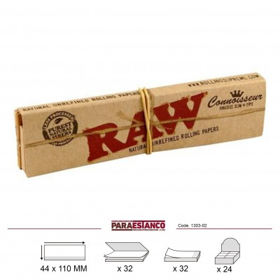 RAW CONNOISSEUR KING SIZE SLIM +TIPS,LIBRITO DE 32 HOJAS+32 FILTROS