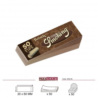 SMOKING BROWN FILTER TIPS, LIBRITO DE 50 HOJAS