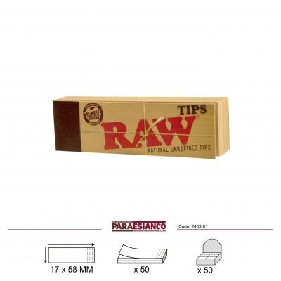 RAW CLASSIC TIPS, LIBRITO DE 50 FILTROS