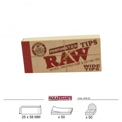 RAW ORGANICO WIDE TIPS, LIBRITO DE 50 FILTROS
