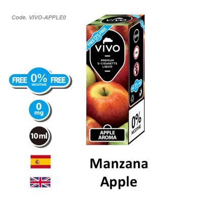 E-Liquido VIVO Manzana sin nicotina (10ML)