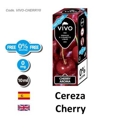 E-Liquido VIVO Cereza sin nicotina (10ML)