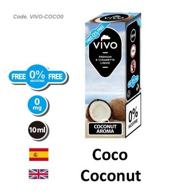 E-Liquido VIVO Coco sin nicotina (10ML)