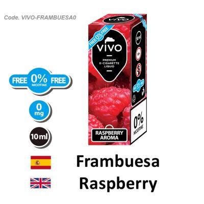 E-Liquido VIVO Frambuesa sin nicotina (10ML)