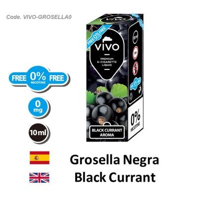 E-Liquido VIVO Grosella negra sin nicotina (10ML)