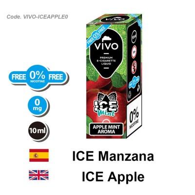 E-Liquido VIVO ICE manzana menta sin nicotina (10ML)