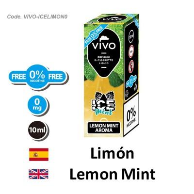 E-Liquido VIVO ICE limon menta sin nicotina (10ML)
