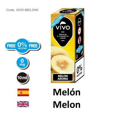 E-Liquido VIVO Melon sin nicotina (10ML)