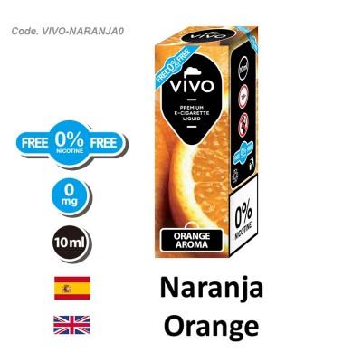 E-Liquido VIVO Naranja sin nicotina (10ml) 1x2
