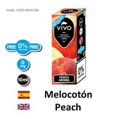 E-Liquido VIVO Melocoton sin nicotina (10ML)