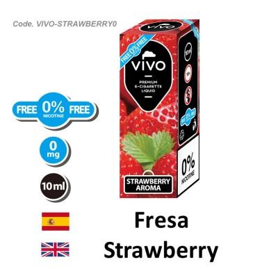 E-Liquido VIVO Fresa sin nicotina (10ML)