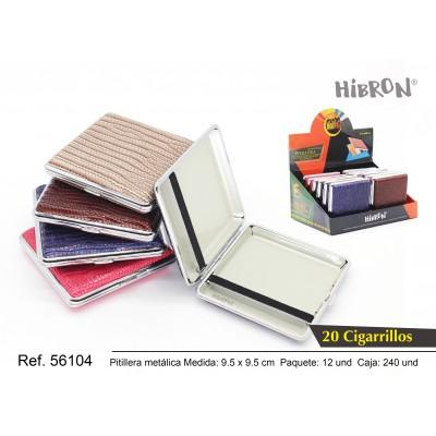 Ref: 56104 Estuche metalico para tabaco