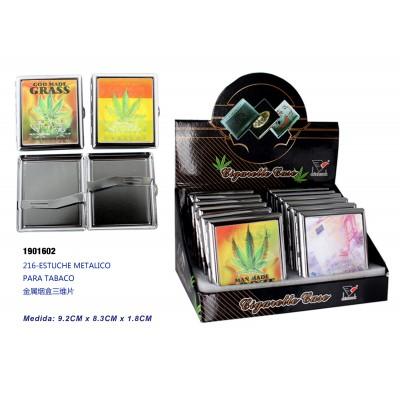 Ref: 1901602 Estuche metalico para tabaco