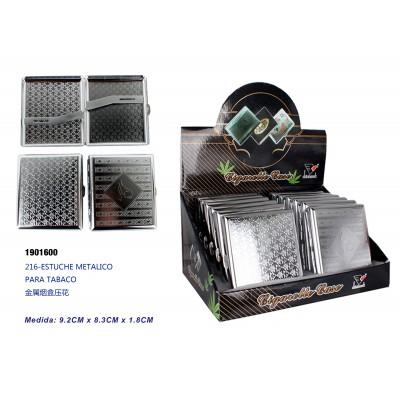 Ref: 1901600 Estuche metalico para tabaco