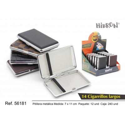 Ref: 56181 Estuche metalico para tabaco