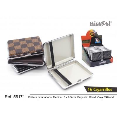 Ref: 56171 Estuche metalico para tabaco