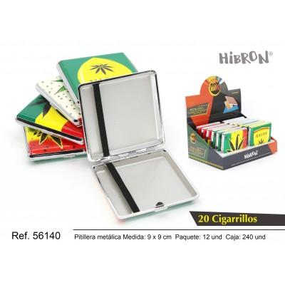 Ref: 56140 Estuche metalico para tabaco