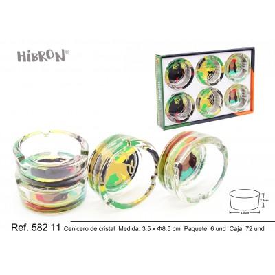 HIBRON,Cenicero de cristal,58211,1x6