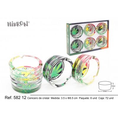 HIBRON,Cenicero de cristal,58212,1x6