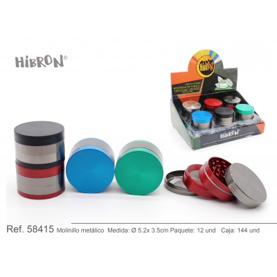 HIBRON, Grinder Molinillo metalico,58415, 1x4