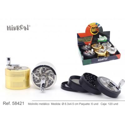 HIBRON, Grinder Molinillo metalico,58421, 1x2