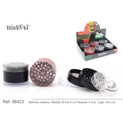 HIBRON, Grinder Molinillo metalico,58423, 1x6