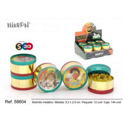 HIBRON, Grinder Molinillo metalico,58604, 1x6