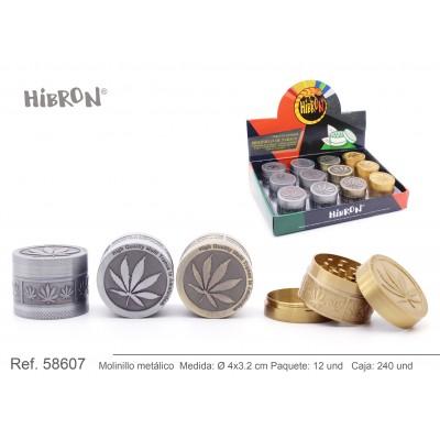 HIBRON, Grinder Molinillo metalico,58607, 1x6