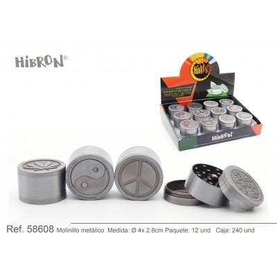 HIBRON, Grinder Molinillo metalico,58608, 1x6