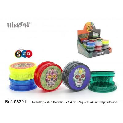 Ref: 58301 Plastico molinillo para fumar 3F 208